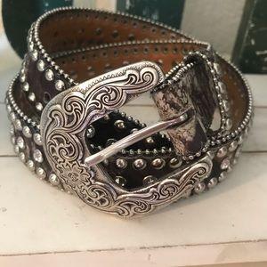 Nocona studded child's belt